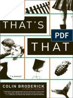 That's That by Colin Broderick - Excerpt
