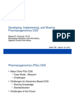 Developing, Implementing, And Sharing Pharmacogenomics CDS (TBI Panel)