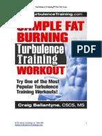 Turbulence Training Sample Fat Burning Workout
