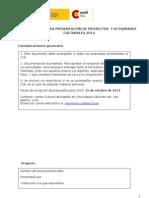 Formulario Proyectos CCE Lima - 2014