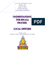 20120309_Fresno County Guide for Recalling Local Officeholders