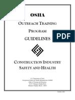 OSHA Outreach Training Program Guidelines