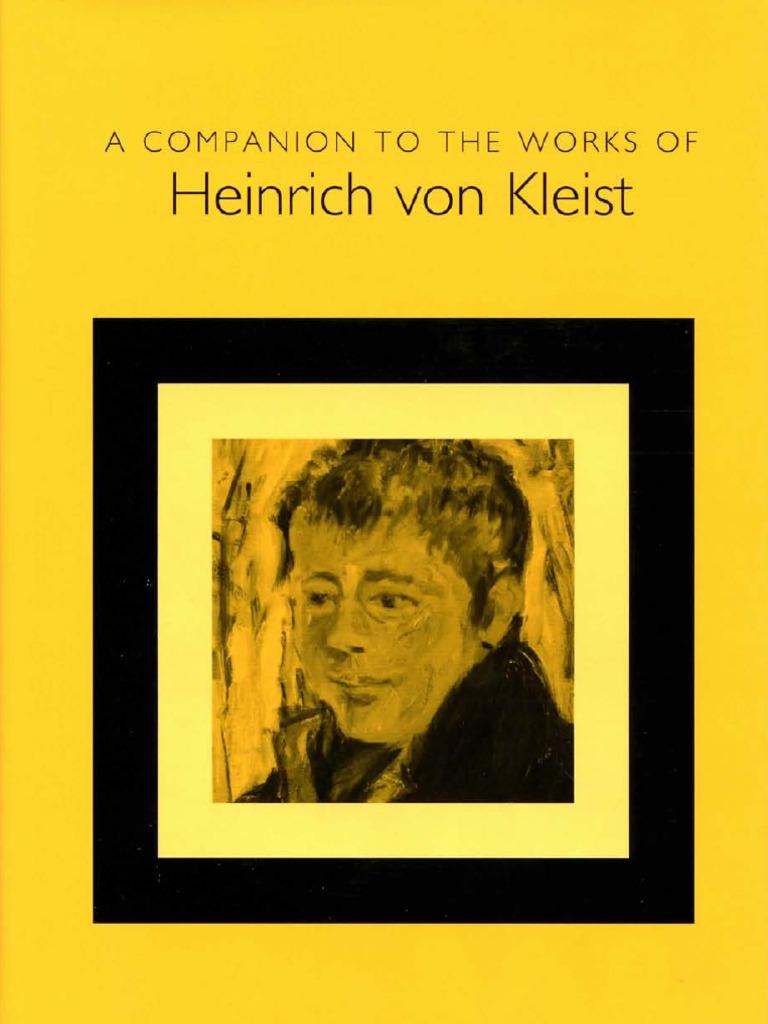 Bernd Fischer] a Companion to the Works of Heinrich von Kleist ...