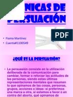 TÉCNICAS DE PERSUACIÓN