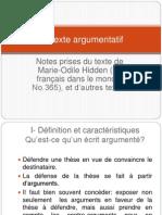 Le Texte Argumentatif Def