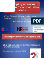 Developing s RQ for a Quali Research