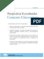 Perspectivas Ecoculturales en El Contexto Universitario