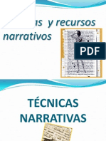 TECNICAS NARRATIVAS-