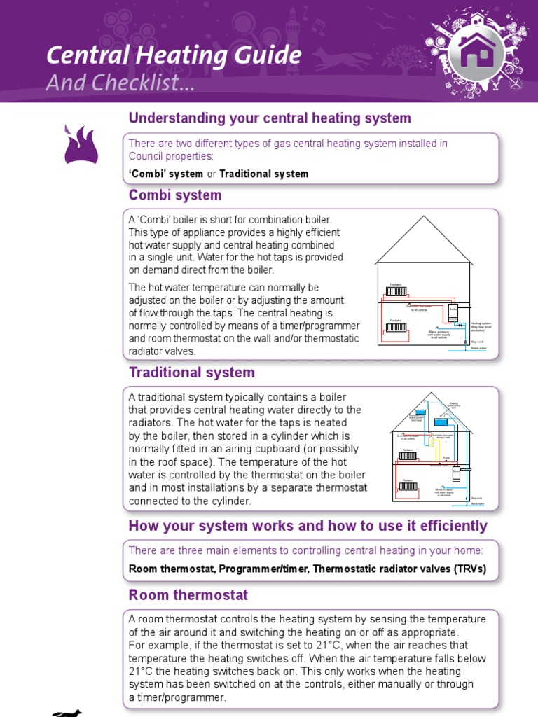 2d Your Home Central Heating Guide | Water Heating | Thermostat