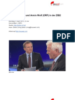 Transkript Interview mit Frank Stronach und Armin Wolf (ORF) in der ZIB2 (9. April 2013)