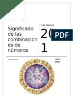 Significado de Combinaciones de Numeros