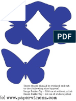 PaperVine Butterfly Template