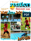 Wooster Recreation Summer 2013 Brochure