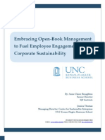 Embracing Open–Book Management to Fuel Employee Engagement and Corporate Sustainability