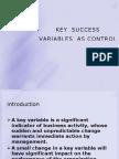 Key Success Variables as Control Indicators Chapter 2