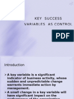 Key Success Variables as Control Indicators Chapter 2