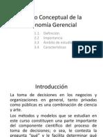 Marco conceptual de la Econom+¡a Gerencial