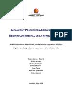 Alcances y Propuestas Juridicas Para El Desarrollo Integral de La Infancia en Chile
