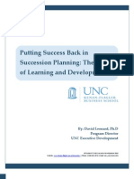 Putting Success Back in Succession Planning
