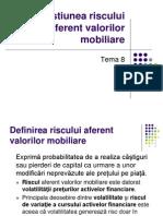 Gestiunea Riscului Aferent Valorilor Mobiliare