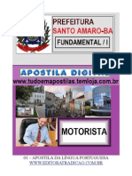 01-APOSTILA LÍNGUA PORTUGUESA - CARGO MOTORISTA