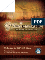 Sale Catalog - Taste of Ontario National Convention Sale