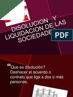 Disolucion y Liquidacion de Las Sociedades