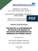 1 Informe Final de Estudio de Contaminacion de Suelos 2011-2012