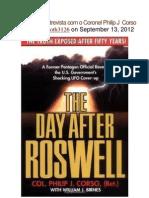 ROSWELL Entrevista Com o Coronel Philip J Corso