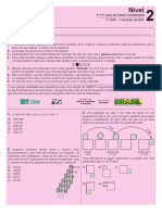 pf1n2-2012 PROVA OLIMPIADAS-NÍVEL 2