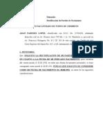 Rectificacion de Partida Nacimiento-judicial