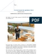 x Circuito Escolar de Ajedrez 2013 - Corte Ingles Elche