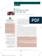 Risk factors for Frailty in the Older Adult