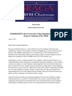 Brown University College Republicans Endorsement Letter