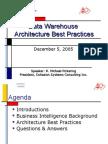 Data Warehousing Architecture Best Practices