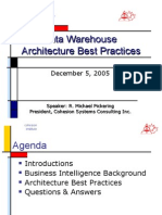 Data Warehousing Architecture Best Practices
