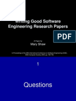 01-02 Writing Good Software Engineering Research Papers