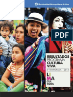 Resultados Cultura Viva 2012