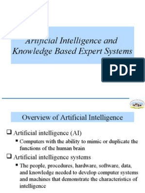 Artificial Intelligence and Expert System | Artificial