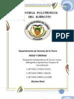 PARÁMETROS MORFOMÉTRICOS DE UNA CUENCA HIDROGRAFICA