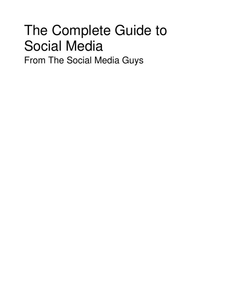 Complete guide to social media social networking service complete guide to social media social networking service social media marketing nvjuhfo Image collections