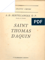 Sertillanges, A.D.,Saint Thomas d'Aquin
