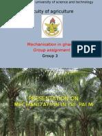 Mechanisation of Oil Palm