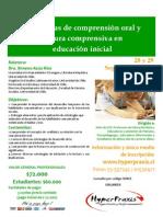 Afiche Estrategias de Comprension Oral y Lec Comprens en Educ Inicial