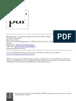 article sur Merleau-Ponty et la phéno de la perception