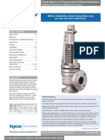 Crosby Style HL Low Pressure Steel Full Nozzle Safety Valves Installation, Maintenance and Adjustment Instructions
