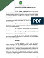 Edital - Nível Superior e Técnico