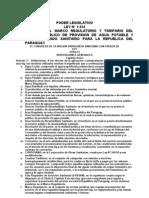 Ley 1614 Del 2000 Marco Regulatorio y Tarifario de Servicio