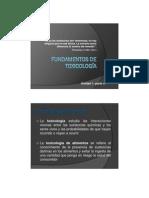 FUNDAMENTOS DE TOXICOLOGÍA parte A 2012