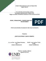 Cauich J. (2012).Robo, penalidad, consecuencias y posibles soluciones. UNID. Tizimín, Yucatán.